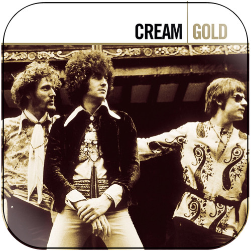 Cream Cream Gold Album Cover Sticker Album Cover Sticker