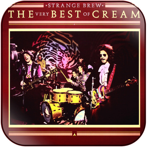 Cream Strange Brew The Very Best Of Cream-2 Album Cover Sticker Album Cover Sticker