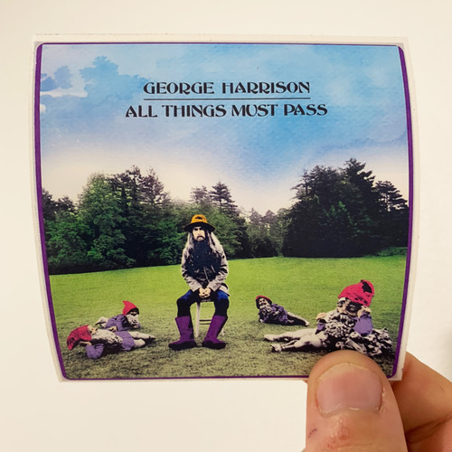 George Harrison All Things Must Pass Album Cover Sticker