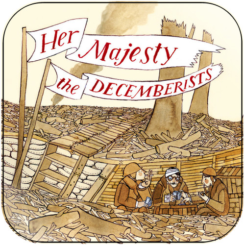 The Decemberists Her Majesty The Decemberists Album Cover Sticker