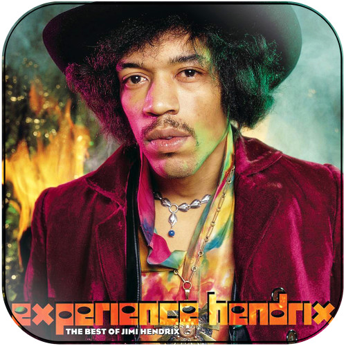 Jimi Hendrix Experience Hendrix The Best Of Jimi Hendrix Album Cover Sticker