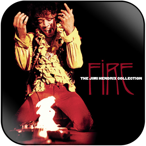 Jimi Hendrix Fire The Jimi Hendrix Collection Album Cover Sticker