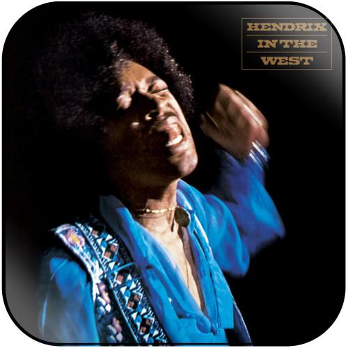 Jimi Hendrix Hendrix In The West Album Cover Sticker