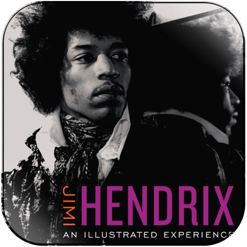 Jimi Hendrix Jimi Hendrix An Illustrated Experience Album Cover Sticker