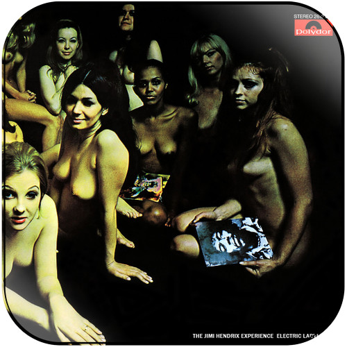 The Jimi Hendrix Experience Electric Ladyland-3 Album Cover Sticker