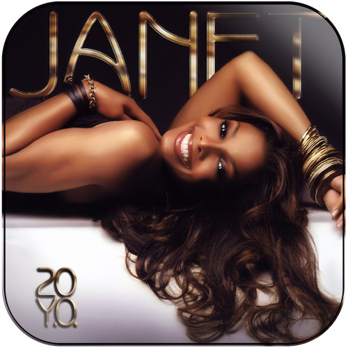 Janet Jackson 20 Yo Album Cover Sticker