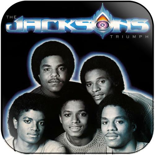 The Jacksons Triumph Album Cover Sticker