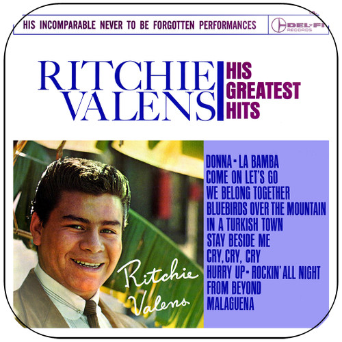 Ritchie Valens His Greatest Hits Album Cover Sticker