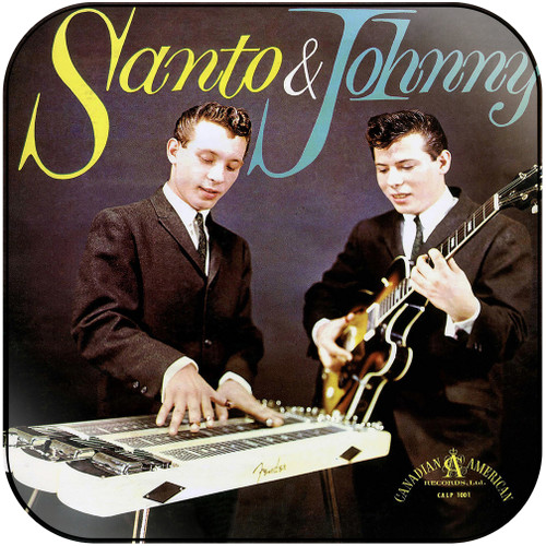 Santo and Johnny Santo Johnny Album Cover Sticker