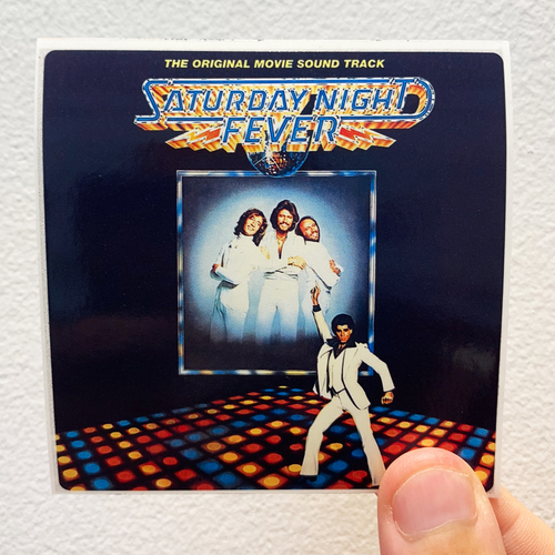 Original Soundtrack Saturday Night Fever Album Cover Sticker