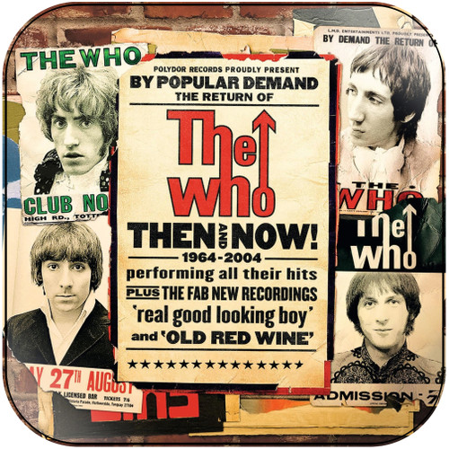 The Who Then And Now 19642004 Album Cover Sticker