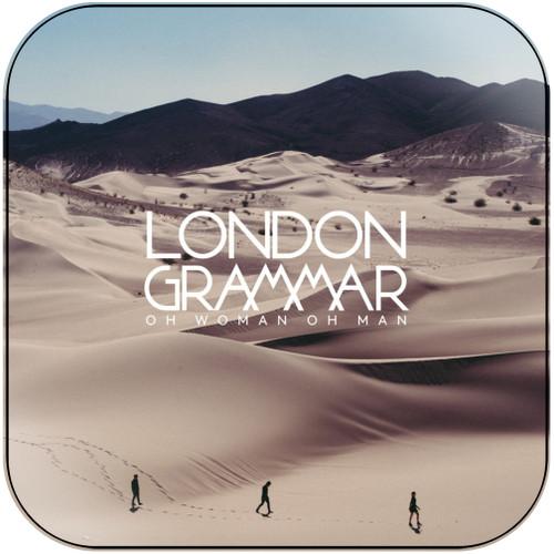 London Grammar Oh Man Oh Woman Album Cover Sticker