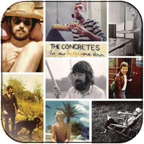 The Concretes layyourbattleaxedown Album Cover Sticker