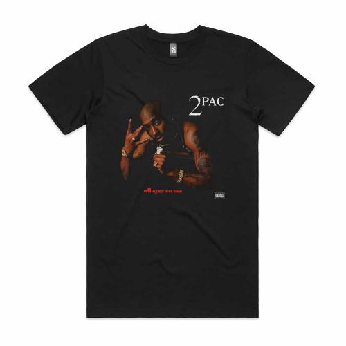 2Pac All Eyez On Me Album Cover T Shirt Black