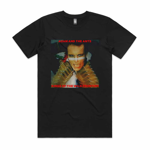 Adam and The Antz Kings of The Wild Frontier Album Cover T Shirt Black