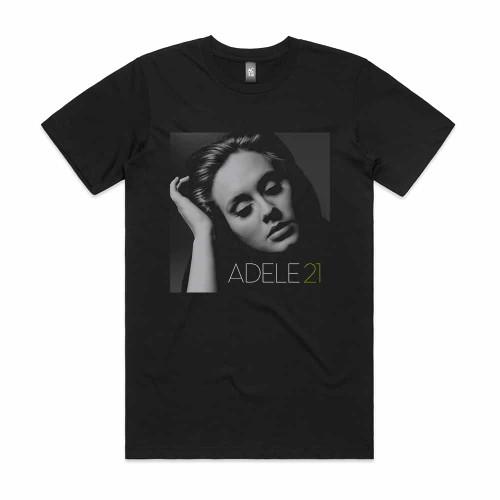 Adele 21 Album Cover T Shirt Black