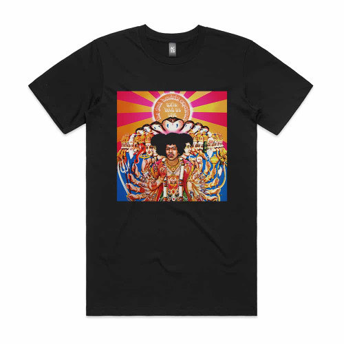 Jimi Hendrix Axis Bold As Love Album Cover T-Shirt Black
