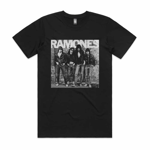 Ramones Ramones Album Cover T-Shirt Black