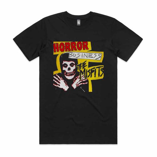 The Misfits Horror Business Album Cover T-Shirt Black
