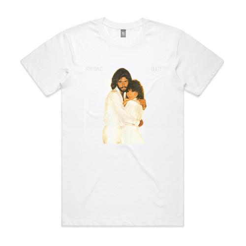 Barbra Streisand And Barry Gibb Guilty Album Cover T-Shirt White