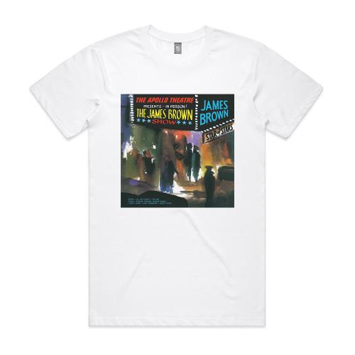 James Brown Live At The Apollo Part 1 Album Cover T-Shirt White