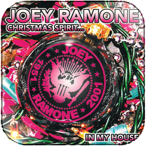Joey Ramone christmas spirit in my house Album Cover Sticker Album Cover Sticker