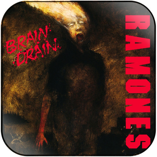 Ramones brain drain Album Cover Sticker Album Cover Sticker