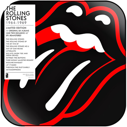 The Rolling Stones 1964  1969 Album Cover Sticker Album Cover Sticker