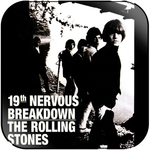 The Rolling Stones 19th nervous breakdown sad day-1 Album Cover Sticker Album Cover Sticker