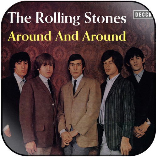 The Rolling Stones around and around Album Cover Sticker Album Cover Sticker