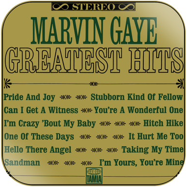 Marvin Gaye - Greatest Hits Album Cover Sticker