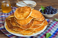 Made from delicious gluten free oat flour and other non GMO ingredients.  The only whole grain gluten free pancake mix on the market today.