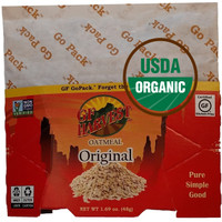 Organic certified, gluten free oatmeal, non GMO with a pinch of salt per serving