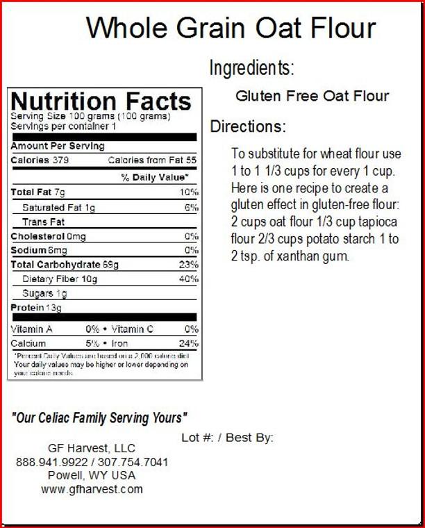 Oat Flour - Gluten Free