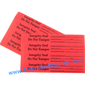 Tamper Evident Security Seals: Red, 400/Package #TS202R