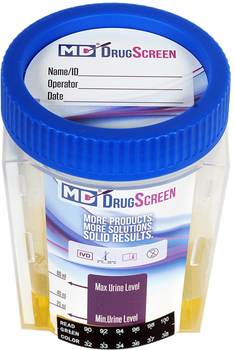 Medical Disposables MD DrugScreen 5 Panel Drug Test Cup with 6 Adulterants.