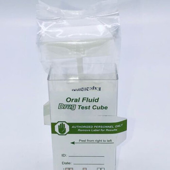 Oral SalivaScan Flip Top Cube Drug Test 7 Panel with Alcohol Confirm