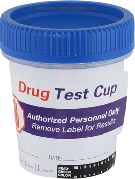 Healgen Scientific 5 Panel CLIA Waived Urine Drug Test Cup from American Drug Test with Label