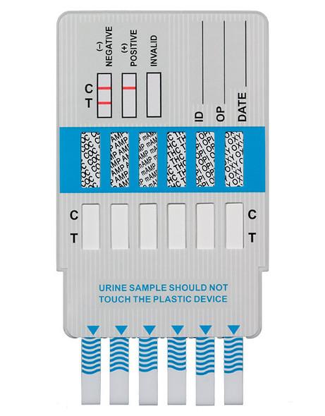 Alere 6 panel drug test dip card uncapped
