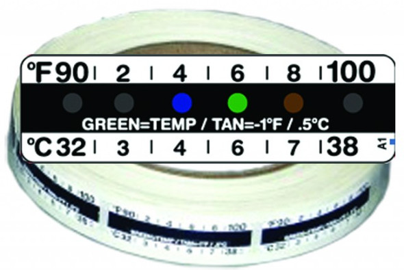 American Thermal Temperature Strips 4000/Roll