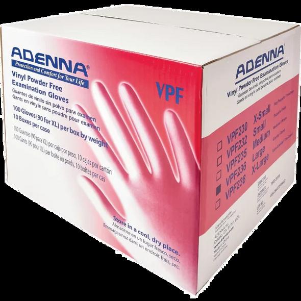Adenna Vinyl Powder-Free Exam Gloves VPF by the Case