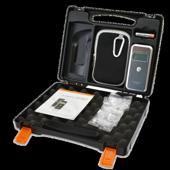 AlcoMate AL7000-F Premium Breathalyzer Alcohol Tester Combo Hard Case Kit
