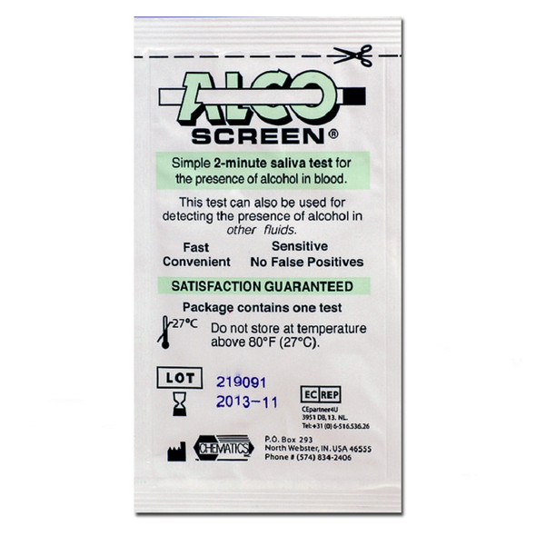 Alco Screen Saliva Alcohol Test Package