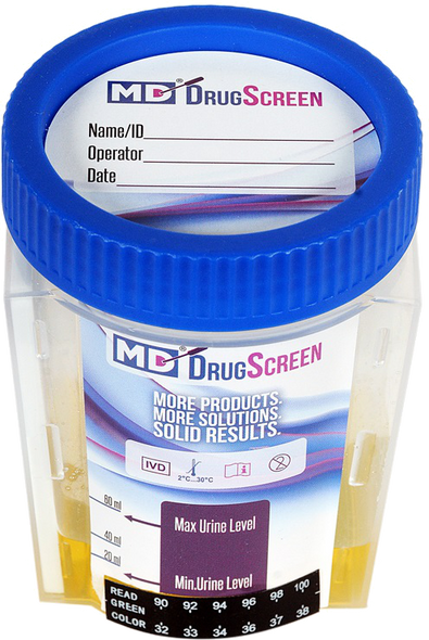 Medical Disposables MD DrugScreen 12 Panel Drug Test Cup with 6 Adulterants.