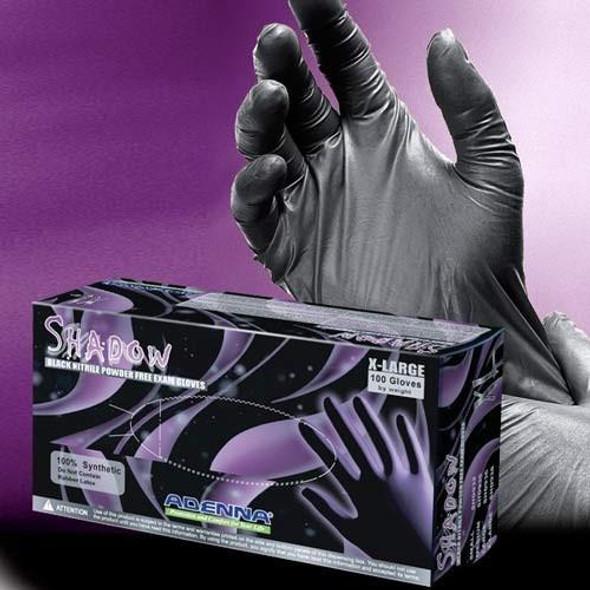 Adenna Shadow Medical Exam Glove Black Nitrile SHD930, SHD932, SHD935, SHD936 SHD938