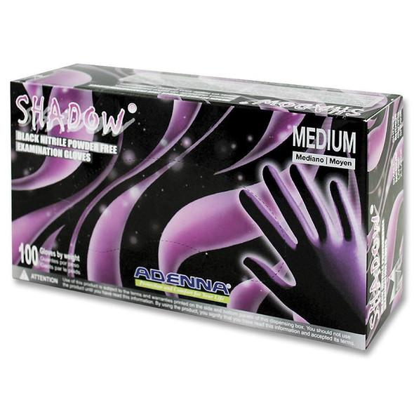 Adenna Shadow Medical Exam Glove Black Nitrile SHD935