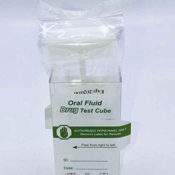 Oral SalivaScan Flip Top Cube Drug Test 7 Panel with Alcohol