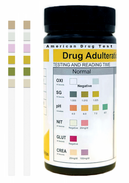 HUAD-164 Adulteration Test Strips Color Chart - Specimen Validity Test Color Chart by American Drug Test