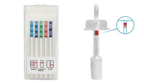 6 Panel T-Cube Oral Saliva Drug Saturation Indicator