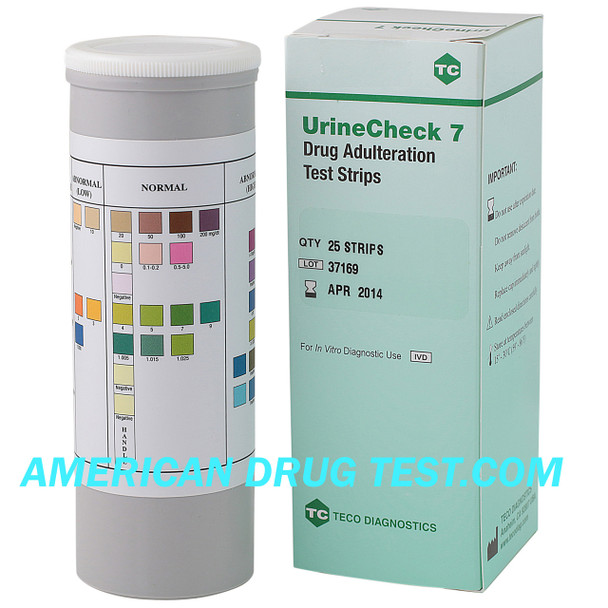 UrineCheck 7 Adulteration Test Strips D-700-25 Teco Diagnostics by americandrugtest.com
